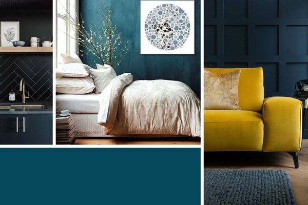 Quelle couleur associer avec Bleu pétrole ?