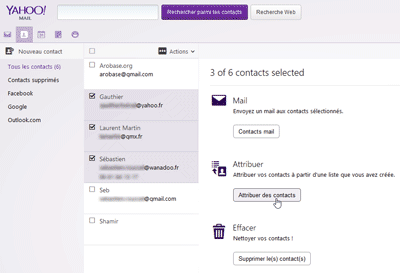 Comment envoyer un mail à une liste de contact ?