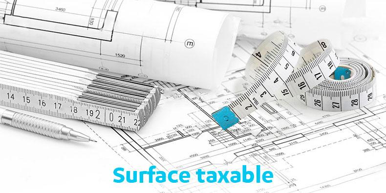 Quelle surface est prise en compte pour la taxe foncière ?